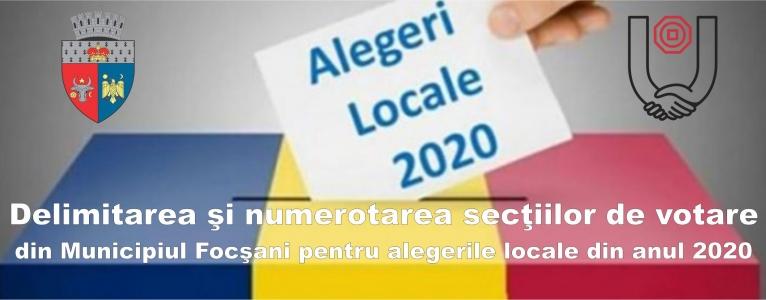 Secții votare alegeri locale 2020