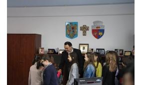 """Primirea la Primărie a copiilor de """"Ziua Internațională a Cititului Împreună"""", eveniment organizat de Biblioteca Județeană - 16 februarie 2017"""