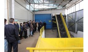 Participare la inaugurarea noii linii de sortare a gunoiului menajer - 19 martie 2017
