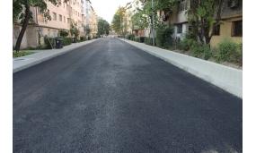 Primul strat de asfalt pe străzile Teiului și Gheorghe Magheru 17.08.2018
