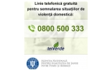 Informații privind linia Telefonică gratuită destinată victimelor violenței domestice gestionată de ANES – 0800 500 333