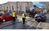 Primăria spală străzile și trotuarele din Focșani