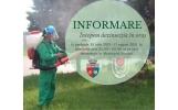 Primăria Focșani face dezinsecție în parcurile și cimitirele din oraș