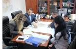 """Întâlnire cu reprezentantul firmei câștigătoare a licitației pentru finalizarea lucrării la """"Planul Urbanistic General"""" al municipiului Focșani"""