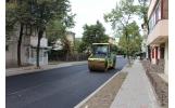 Primul strat de asfalt și pe strada Popa Șapcă