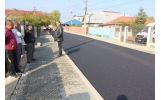 Strada Moș Ion Roată - primul strat de asfalt