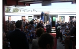 Intampinare in gara din Focșani a Principesei Moștenitoare Margareta și a Principeleui Radu