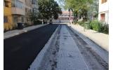 A fost turnat primul strat de asfalt pe strazile Teiului si Gheorghe Magheru