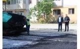 S-a turnat primul strat de asfalt pe strada Gheorghe Maghreu