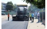 Al doilea strat de asfalt pe prima jumătate a străzii Ghinea Dorinel
