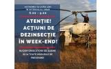 Acțiuni de dezinsecție aeriană în Focșani, în week-end