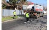SC CUP Salubritate a demarat acțiunea de spălare a trotuarelor și a carosabilului